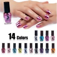 14 Color 6ML Women Fashion Sexy New Metallics Nail Polish Mirror Nail Polish
