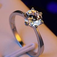 Six Claw Gold Zircon Ring - Seamless Jewelry
