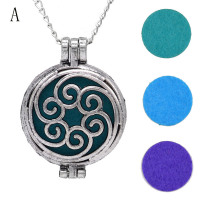 Vintage Locket Essential Oil Diffuser Necklace With Felt Pads Included