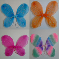 1PC Kids Baby Girl Princess Fairy Butterfly Wings Halloween Fancy Dress Costume Butterfly Wings 13 Colors