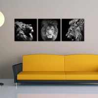 3PCS  Lion King Wall Canvas