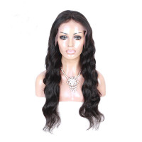 LOOSE WAVE CURLY VIRGIN REMY FULL LACE HUMAN HAIR WIGS