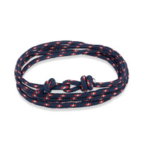 LKO navy style Sport Camping Parachute cord Survival Bracelet Men Women with Stainless Steel Shackle Buckle Fashion Jewelry - braceletsone