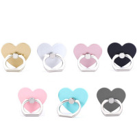 UVR Reusable Love Heart Finger Ring Smartphone Stand Holder Mobile Phone Holder Stand For iPhone iPad Xiaomi Huawei All Phone - Tech My Toy