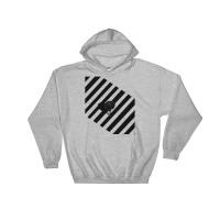 "Hooded Sweatshirt Unisex ""Man crossing street"" Afo x Alex Senna"