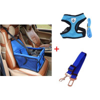 Dog Booster Seat with Safety belt and Harness Vest