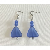 Blue sea glass earrings - jewelry-by-tina-louise