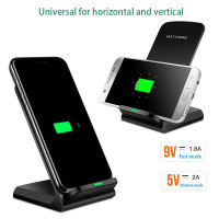10W Quick Wireless Charger for iPhone X XS Max 8 plus s9 Samsung Wireless Charger power Qi Fast Charging Stand Receiver Adapter