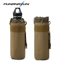 Hunting Water Bottle Bag Molle System Kettle Pouch Holder Camping Cycling Bottle Bag Drawstring Pouch Bag for Tactical Backpack