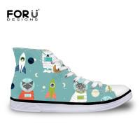 FORUDESIGNS Hi Top Canvas Sneakers