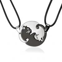 Yin Yang Cats Pendants Necklace