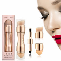 4 in 1 Concealer Foundation Eyebrow Eyeliner Blush Powder Makeup Brushes - Be Minimal-ish