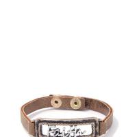 Faith Pu Leather Bracelet