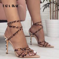 LALA IKAI Women Leopard Sexy Summer Sandals - Da Lovely Boutique