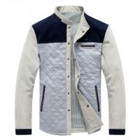 Classic Retro WaveRider Casual Comfort Slim Fit Patch-Work Jacket
