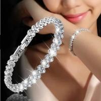 New Fashion Roman Style Woman Bracelet Wristband Crystal Bracelets Gifts Jewelry Accessories Fantastic Wristlet Trinket Pendant - BEST SHOP DEALS