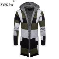 2018 Men Winter Sweater Fashion Korean Style Long Sleeve Male Cardigan Sweater Slim fit Casual Hooded Sweater knitwear Plus size