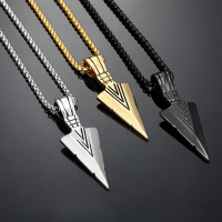 Arrowhead pendant necklace for men - PassionofToday