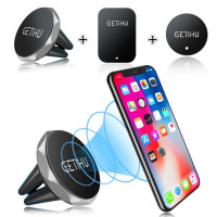 GETIHU, The Best Car Phone Holder Magnetic Air Vent Mount Mobile Smartphone Stand Magnet