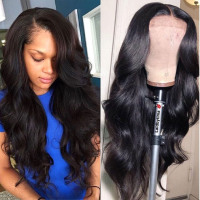 180% 250% Lace Front Human Hair Wigs 13X4 Pre Plucked Remy Brazilian Body Wave Lace Frontal Wigs With Baby Hair For Black Women