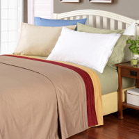 1000tc 100% Premium Long Staple Combed Cotton Solid Sheet Set - Anippe