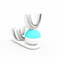 Automatic Electric Toothbrush Ultrasonic U-Shape Rechargeable Teeth Whitening Adults 360 Degree Clean