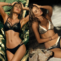 Swimwear Bikini Set Push Up Swim Suit Snake Skin - BikiniClothes