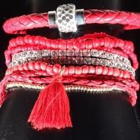 10 piece Red Bracelet Set