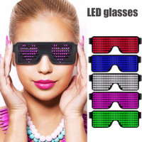 8 Modes Quick Flash Led Party Glasses USB charge