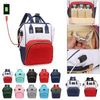 USB Charging Nursing Backpack Large Capacity Waterproof For Baby Care