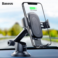 Baseus 10W Wireless Car Charger For iPhone Xs Max X Samsung S10 Xiaomi Mi 9 Qi Wireless Charger Fast Charging Car Phone Holder-FastWirelessCharger