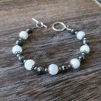 Russa Ballet | Snake Chain Bracelet, Hematite & Moonstone