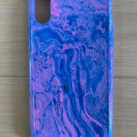 Designer Hydro Dipped Iphone x/Xs Mobile Phone Case New Unique Blue/Pink