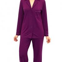 """Women's Pajamas - """"Before Bed"""" Cotton Spandex Pajamas - Grape by Shadowline"""